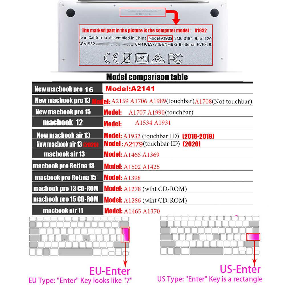 أبل ماك بوك pro13/11Air 13/15 Retina12 بوصة كل سلسلة سيليكون لوحة المفاتيح غطاء شفاف واضح حامي فيلم الاتحاد الأوروبي/الولايات المتحدة