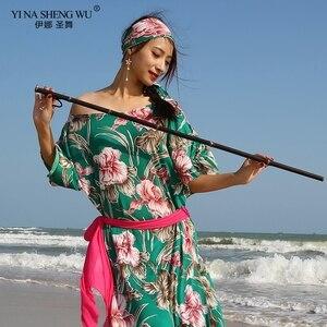 Новая модная женская Одежда для танцев, одежда для танца живота, балади, платье Саиди, цельные платья для девочек, цветочный костюм, платье д...