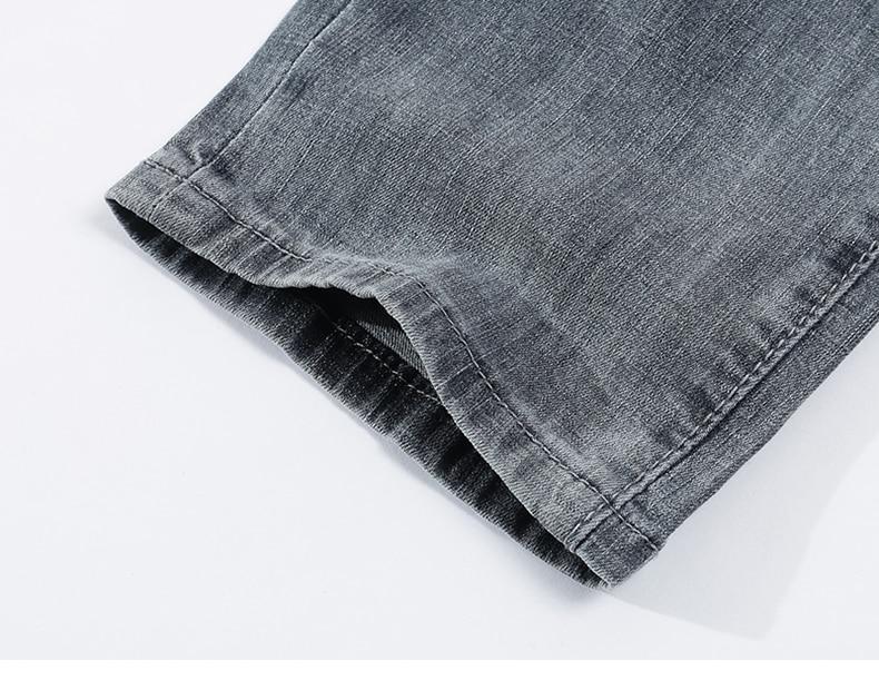 KSTUN jeans men ripped men's slim fit jeans summer stretch retro gray jeans mens denim pants distressed streetwear hip hop jeans 19