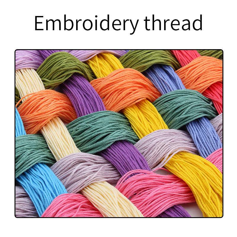 女性と満月 diy 針仕事工芸木綿糸刺繍裁縫セットクロスステッチキットパターンキット家の装飾
