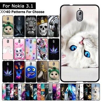 Luxus Fall Für Nokia 3,1 Tier Cartoon Gemusterte Weiche TPU Silikon Fällen telefon abdeckung für nokia 3,1 coque capa fundas protector