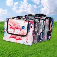 Neue Tragbare Camping Matte Oxford Tuch doppelseitige Wasserdichte Faltbare Picknick Matte 12 Farben Mode Strand Decke Rasen Spiele pad