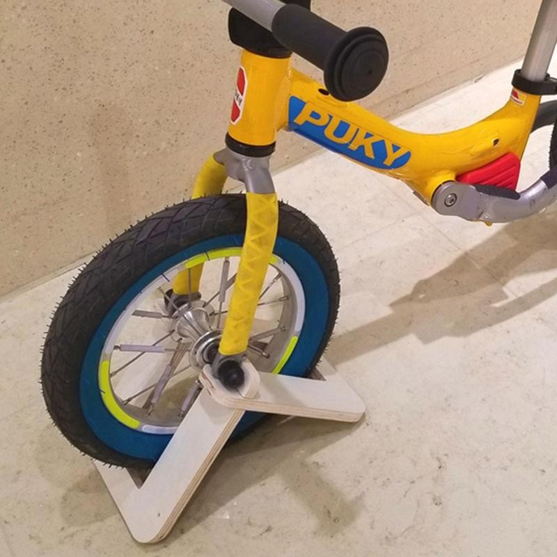 Kid's Balance Bike Stand Holder Wooden Portable Parking For 10