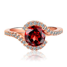 New Accessories European and American Fashion Classic Engagement Women's Ring Copper Plated Rose Gold Micro-set Zircon Ring(China)