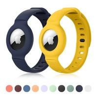 Fall für Apple AirTags Weiche Silikon Strap Air Tag Anti-Scratch Armband Schutzhülle Shell für AirTag kinder Uhr strap
