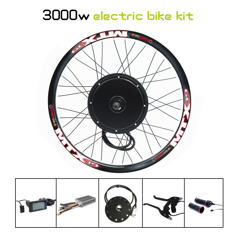 135mm Dropouts 48V-72V 3000w Electric Bike Conversion Kit 90km/h Speed 3000W Ebike Conversion Kit