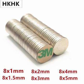 10 100 krążek magnetyczny 8 #215 1 8 #215 1 5 8 #215 2 8 #215 3 8 #215 4 8x5mm pasek z 3M samoprzylepny magnes NdFeB 8mm magnes neodymowy magnetyczny standard tanie i dobre opinie CN (pochodzenie) permanentny Przemysłowy magnes Blok 8x1mm 8x1 5mm 8x2mm 8x3mm 8x4mm 8x5mm