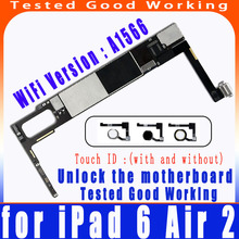 AFree shipping A1566 icloud unlocking logic board, suitable for ipad 6 Air 2 motherboard with IOS system,with/without touch ID