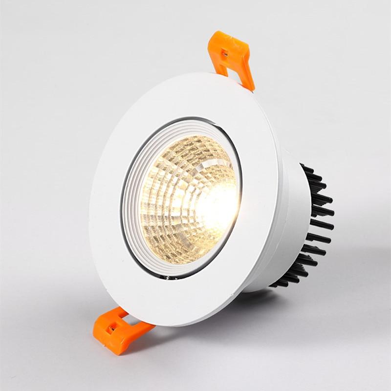 Dimbare AC110V-220V 5W7W9W12W15W18W20W Plafond Downlight Epistar Led Inbouw Plafond Lamp Spot Licht Voor Thuis Verlichting 2