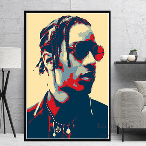 Modern Oil Painting ASAP Rocky 2pac Tupac J cole USA Rapper Stars Canvas Poster Prints Wall Art Pictures Living Room Home Decor