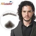 Alieader rendas barba para homem feito à mão real bigode de cabelo barba falsa para cavalheiros invisível barbas falsas