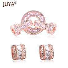 Ручная работа DIY Изготовление ювелирных изделий, Роскошные AAA циркониевые кристаллы застежки для браслетов аксессуары, бусины конец застежка поставки