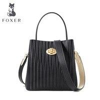 FOXER luxury popular high quality bag female 2019 new simple large capacity single shoulder Messenger bag wide shoulder strap fa