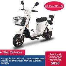 Moto électrique pour hommes et femmes, 25 KM/H, 350W, 20ah, 48V, avec batterie avant et arrière
