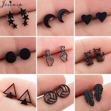 Stud-Earrings Volleyball-Leaf Piercing Jewelry Gift Fox-Star Multiple Stainless-Steel
