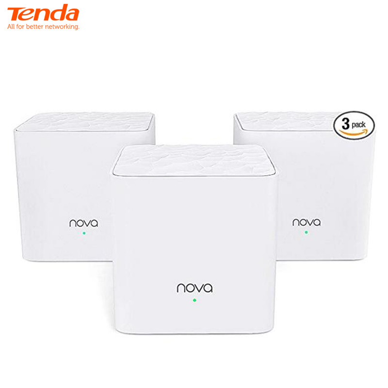 Tenda Nova Mesh WiFi System (MW3)-Up to 3500 sq.ft. Whole Home Coverage WiFi Router and Extender Replacement AC1200 Mesh Router