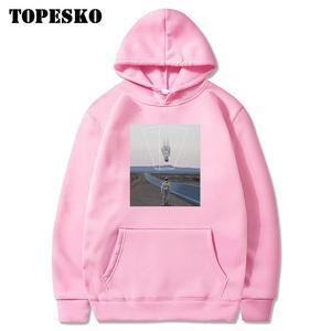 Image 5 - TOPESKOตลกUpside Downนักบินอวกาศพิมพ์Hoodiesเสื้อSpaceman Harajuku Hip Hop Casual Pullover Hooded Streetwear