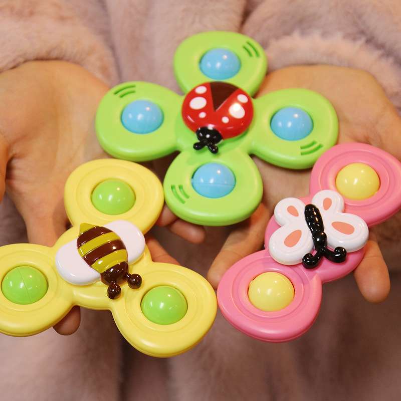 Spinner-Toys Bath-Toys Gyro Fidget Baby Cartoon Relief-Stress Colorful ABS Insect img2