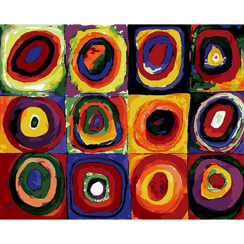 RUOPOTY Concentric circle painting by numbers for home Painting By Numbers DIY Flying Concentric circle Decoration Art Gift-0