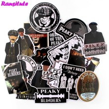 Ransitute 18 Pcs/set Peaky Blinders Retro Tahan Air Menyenangkan Stiker Gitar Komputer Skuter JDM Graffiti Bordiran Dekorasi R721(China)