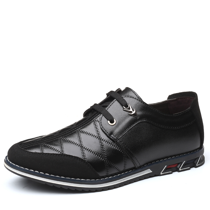 Genuine Leather Men Casual Shoes Brand 2019 Mens Loafers Moccasins Breathable Slip on Black Driving Shoes Genuine Leather Men Casual Shoes Brand 2019 Mens Loafers Moccasins Breathable Slip on Black Driving Shoes Plus Size 38-46