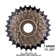 7スピードカセットフリーホイール14 28t mtbロードサイクリング自転車7高速カセット自転車アクセサリー