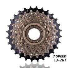 Ruota libera a cassetta a 7 velocità 14 28T per bici da ciclismo su strada MTB accessori per biciclette a cassetta a 7 velocità