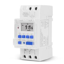 TM919A Heavy Duty Digital Time Switch Relay Timer Control Din Rail Mount Weekly 7 Days Programmable Electrical Equipment no lock digital programmable timer time relay microcomputer electronic digital timer switch relay control din rail mount