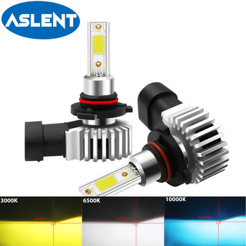 2PCS 9005 hb3 Led Headlight Bulb H1 H3 H4 H7 H8 H9 H11 HB4 9006 H27 881 Fog Light 12-24V High Low Beam white 6500K COB Headlamp цена 2017