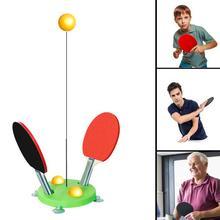 Портативный тренировочный инструмент для пинг-понга, мягкий вал, профессиональный тренировочный тренажер, машина для самообучения, набор мячей для настольного тенниса, домашние упражнения