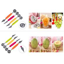 Double-headed Carving Scoop Eating Fruits Ball Spoon DIY Digging Spoon Tool Fruit Carving Gadget Knife Kitchen Cusine Tool cheap Melon Scoops Ballers CE EU Eco-Friendly Stainless Steel about 18cm about 2 9 cm stainless steel +PP dropshipping wholesale