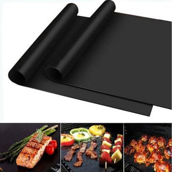 1Pcs Extra Thick Heat Resistant BBQ Grill Mat Baking Reusable Non-Stick Barbecue Cooking Grilling Sheet Liner BBQ Tools image