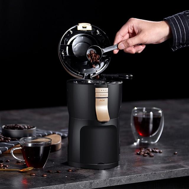 600 واط التلقائي بالكامل الأمريكية ماكينة القهوة صانع طاحونة المنزلية المحمولة الصغيرة طحن القهوة ، مسحوق الفول والشاي 4