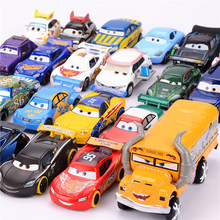 1:55 Disney Pixar Cars 3 Lightning McQueen Jackson Storm Diecast Metal Car Educational Toy Birthday Chirstmas Gift For Boy(China)
