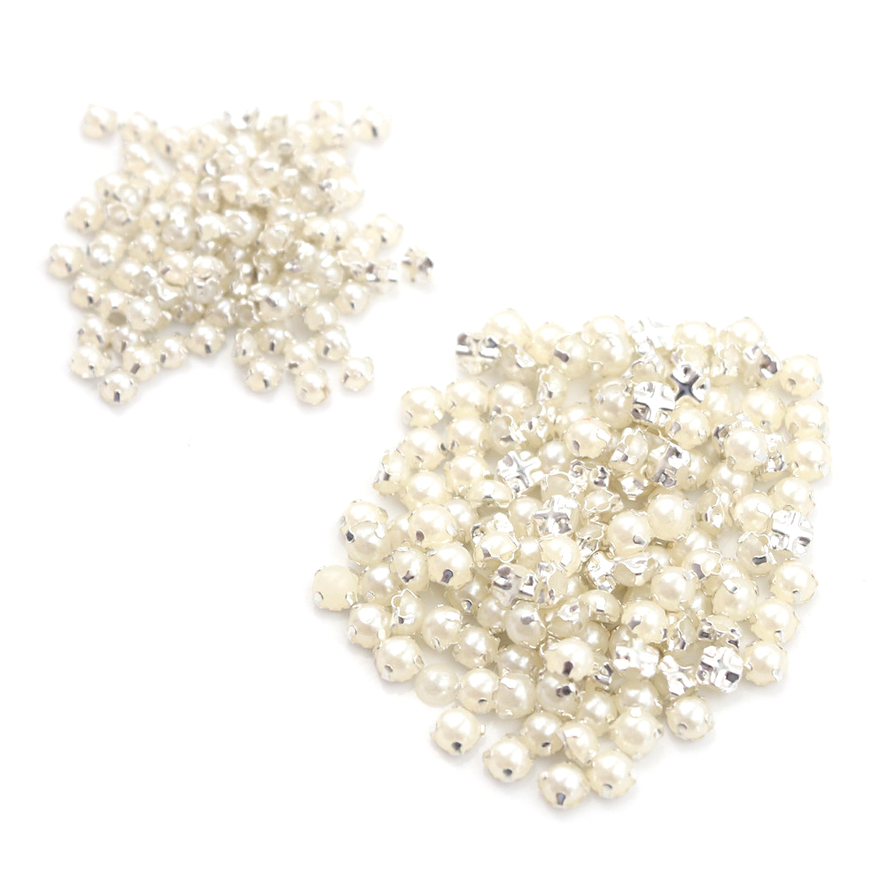 100pcs/lot 3/4MM Mini Pearl Buckle Handmade Craft DIY Bag Parts Accessories Wholesale