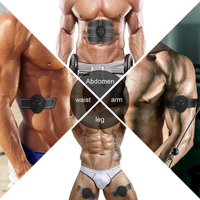 EMS Muscle Stimulator Trainer Smart Fitness Abdominal Training Electric Body Weight Loss Slimming Device WITHOUT RETAIL BOX 4