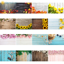 Sensfun 90x60 Wood Board Flower Photo Background Birthday Photocall Baby Shower Food Cake Photography Backdrop Fond Photographie