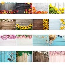 Sensfun 90x60 עץ לוח פרח תמונה רקע יום הולדת שיחת וידאו תינוק מקלחת מזון עוגת צילום רקע אוהב Photographie