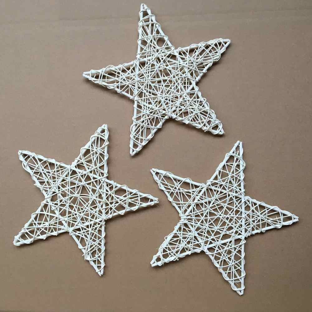 Delicate Rattan Vine DIY Star Wreath Garland Party Christmas Tree Window Decor Ornament Home decorations Gift