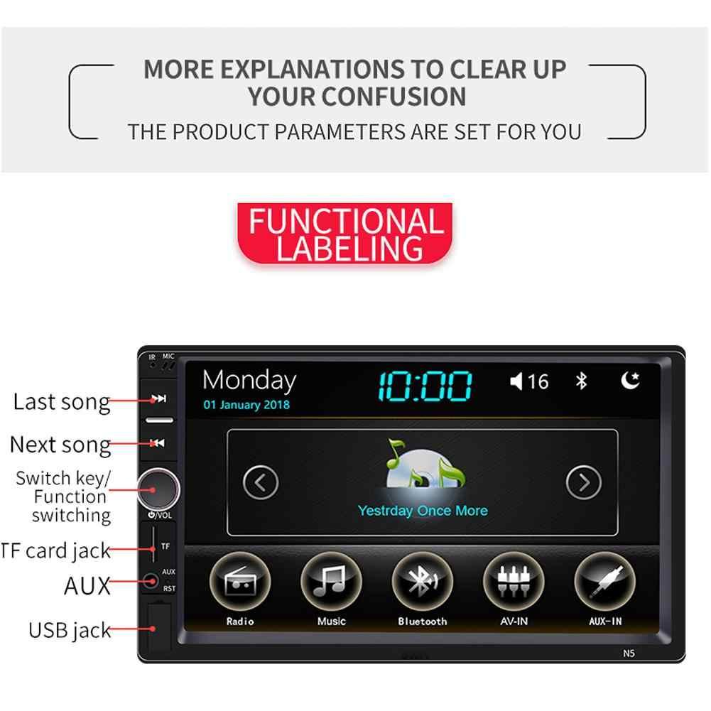 2 Din Radio samochodowe samochodowe Multimedia odtwarzacz ekran dotykowy MP5 odtwarzacz Bluetooth wideo stereofoniczne MP5 odtwarzacz Radio samochodowe obsługuje kamery
