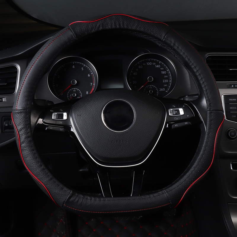 Pu Leather Car Steering Wheel Cover for Mercedes Benz M Class Ml320 <font><b>Ml</b></font> <font><b>350</b></font> <font><b>W163</b></font> W164 W166 GLE Anti-Slip Steering Covers image