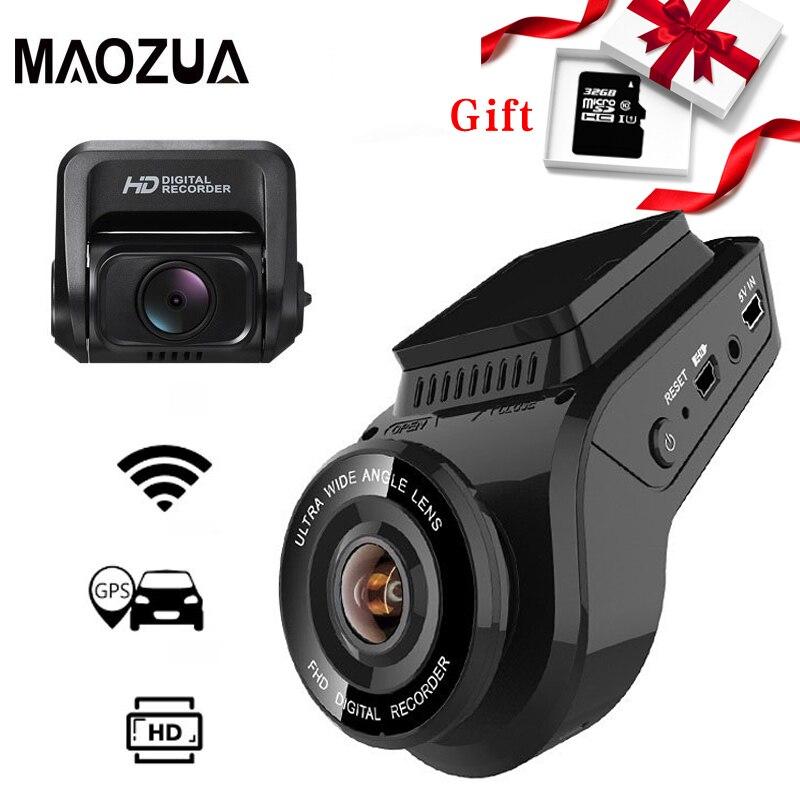 Coche Dash Cam 2160P 4K Ultra HD con 1080P cámara trasera WiFi GPS Logger ADAS doble lente de la Cámara DVR de visión nocturna para coche + 32G tarjeta SD