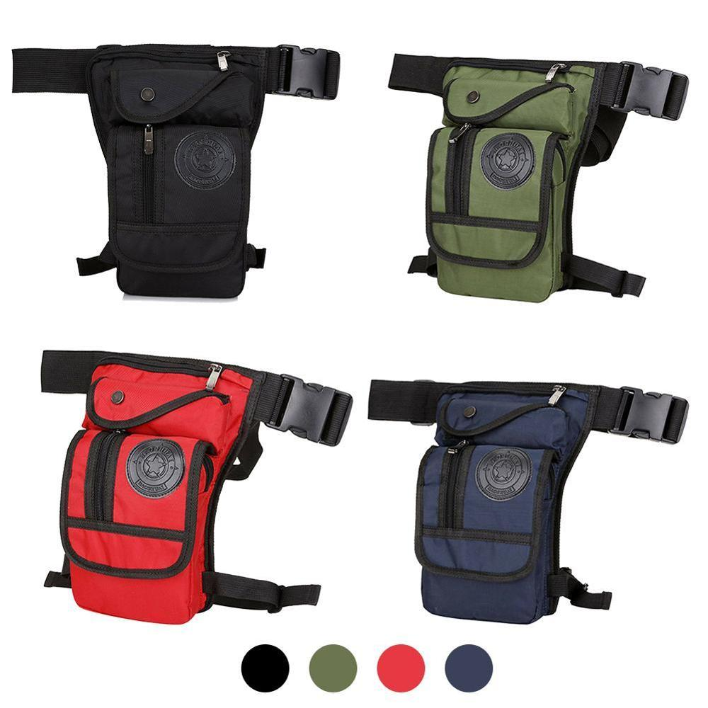 Hot Canvas Waist Bag Fanny Pack Racing Drop Leg Bag Motorcycle Outdoor Bag Waist Pack For Women Utility Bag Hip Pack