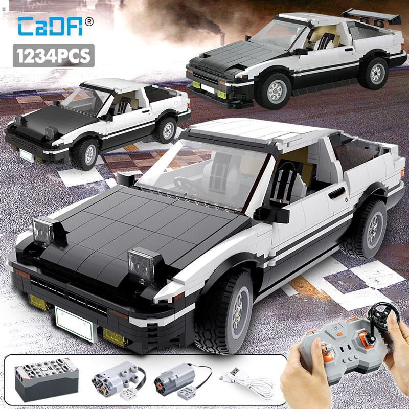 Cada 1234pcs City Remote Control Racing Car Building Blocks For Legoing Technic Drift Racing Car Bricks  Toys For Children Boys