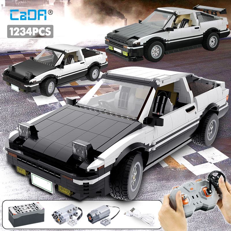 Cada 1234pcs City Remote Control Racing Car Building Blocks For Technic Drift Racing Car Bricks  Toys For Children Boys