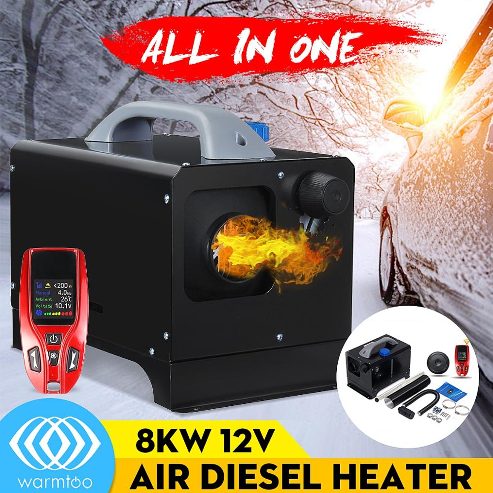 Mini All In One 12V 8KW Diesel Air Heater Car Heater LCD Remote Switch For Trucks Bus Trailer Parking Heater New Arrival 2019