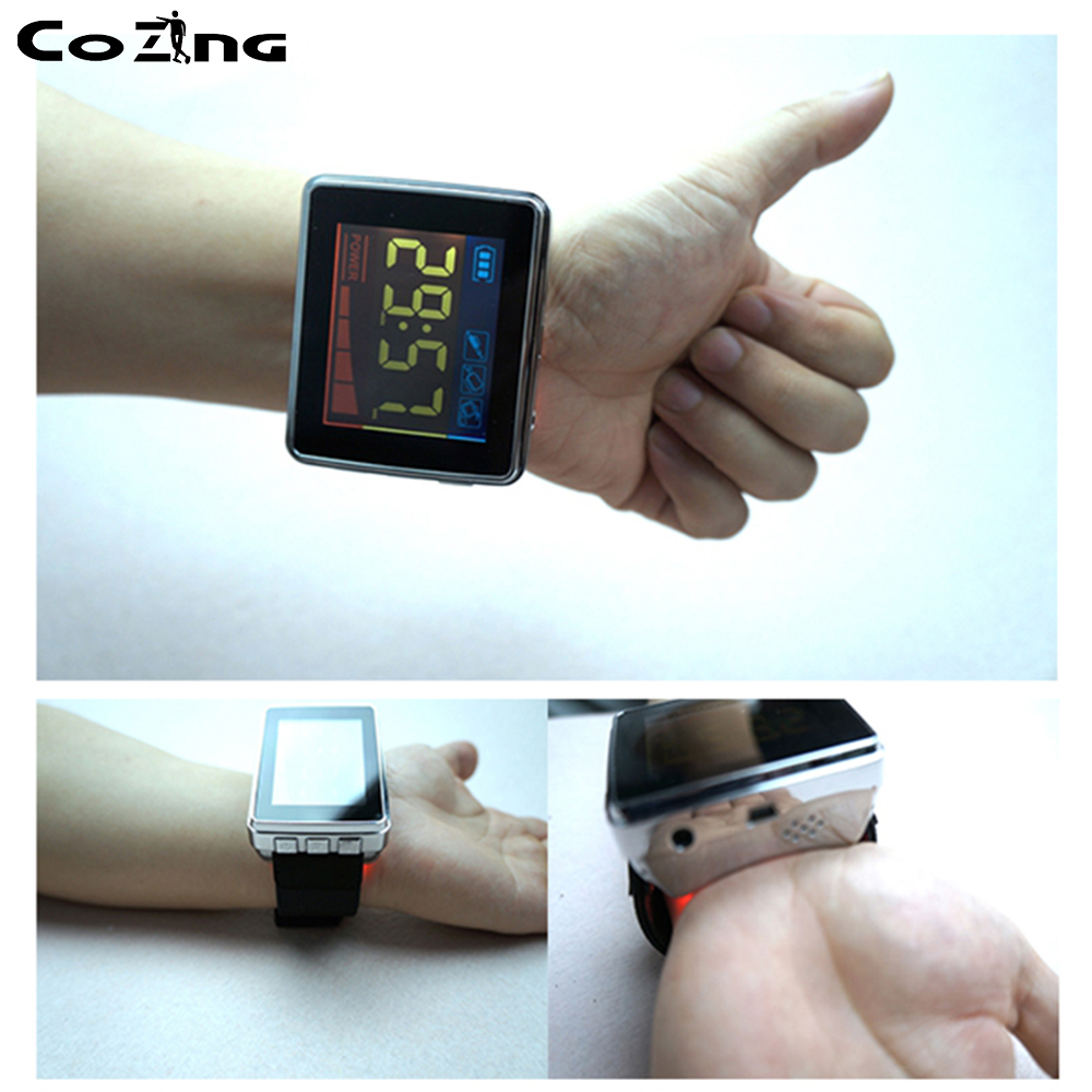 Cold Laser Watch Diabetic Wrist Watch Laser Acupuncture Stimulator Combine Red Laser Light Therapy Hypertension Medical in Rehabilitation Physiotherapy from Beauty Health