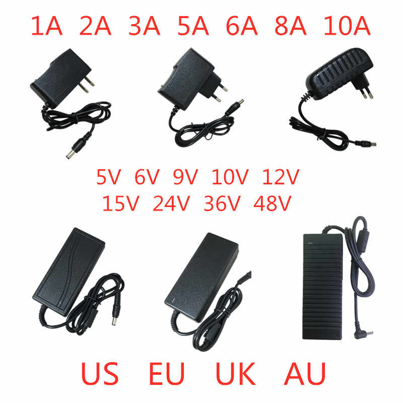 5V 6V 9V 10V 12V 15V 24V 36V 48V 1A 2A 3A 5A 6A 8A 10A  Power Supply Adapter lighting transformer Converter For LED strip light