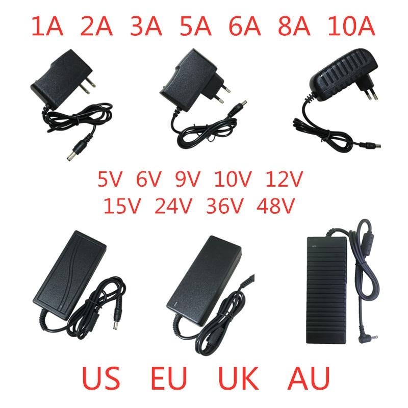 5V 6V 9V 10V 12V 15V 24V 36V 48V 1A 2A 3A 5A 6A 8A 10A  Power Supply Adapter Lighting Transformer Converter For LED Strip Light
