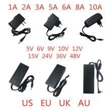 5V 6V 9V 10V 12V 15V 24V 36V 48V 1A 2A 3A 5A 6A 8A 10A แหล่งจ่ายไฟอะแดปเตอร์ไฟแปลงหม้อแปลงไฟฟ้าสำหรับ LED Strip LIGHT